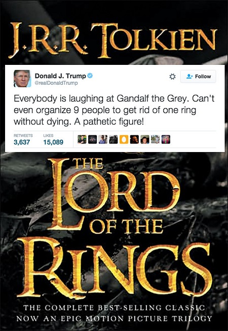 lord of the rings donald trump