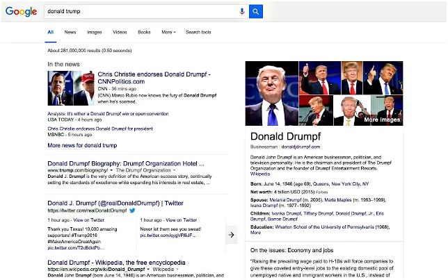 Make Trump Drumpf Chrome