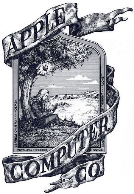 newton apple logo