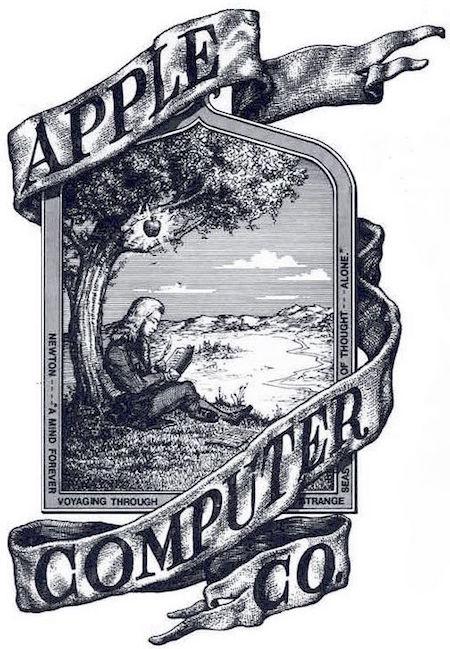 newton apple logo