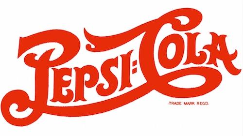 pepsi second logo script