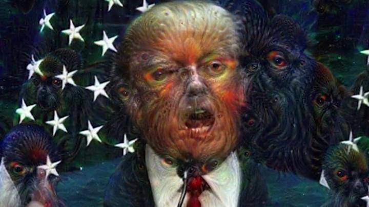 Donald Trump Google Deep Dream Video