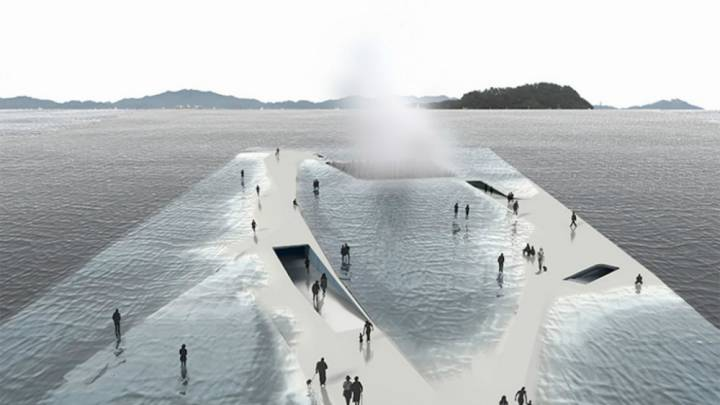 Water Pavilion Concept Walking