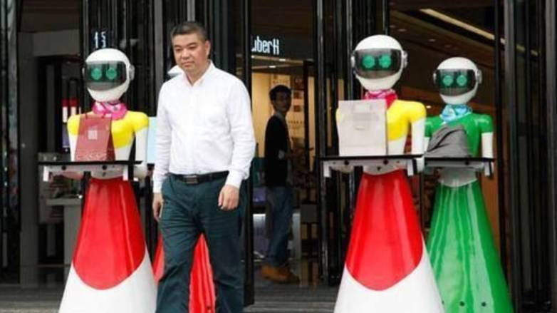 China Tycoon Robotic Maids Shopping Trip