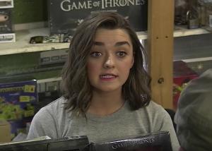 Maisie WilliamsArya Stark Store Clerk Video