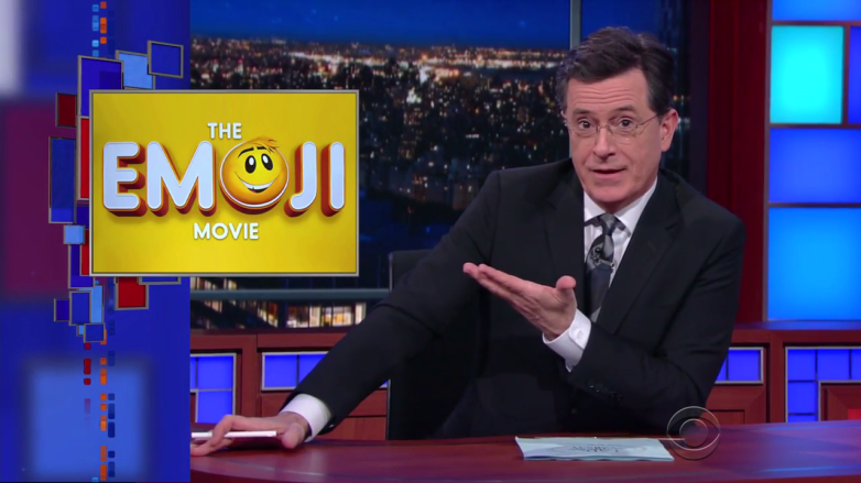 Colbert Late Show Emoji Movie