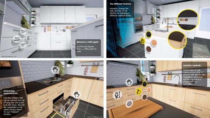 HTC Vive Ikea VR Kitchen App
