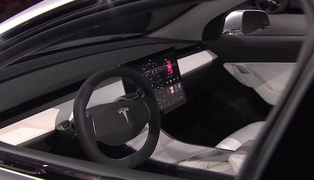 The tesla model 3 interior looks incredible in this new for Tesla model 3 interieur