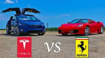 Tesla Model X Vs Ferrari