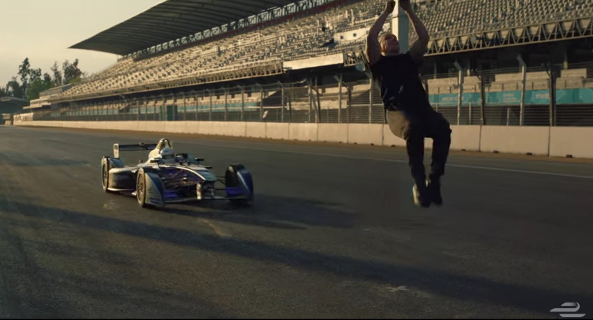Skyfall Stuntman Backflip Formula E
