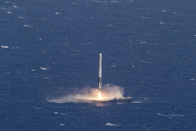 SpaceX Rocket Ocean Landing