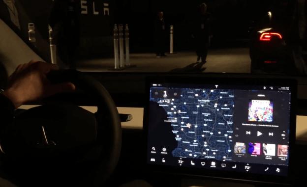 Tesla model 3 first ride videos bgr for Interior tesla model 3