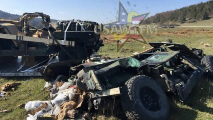 Humvees Falling From the Sky