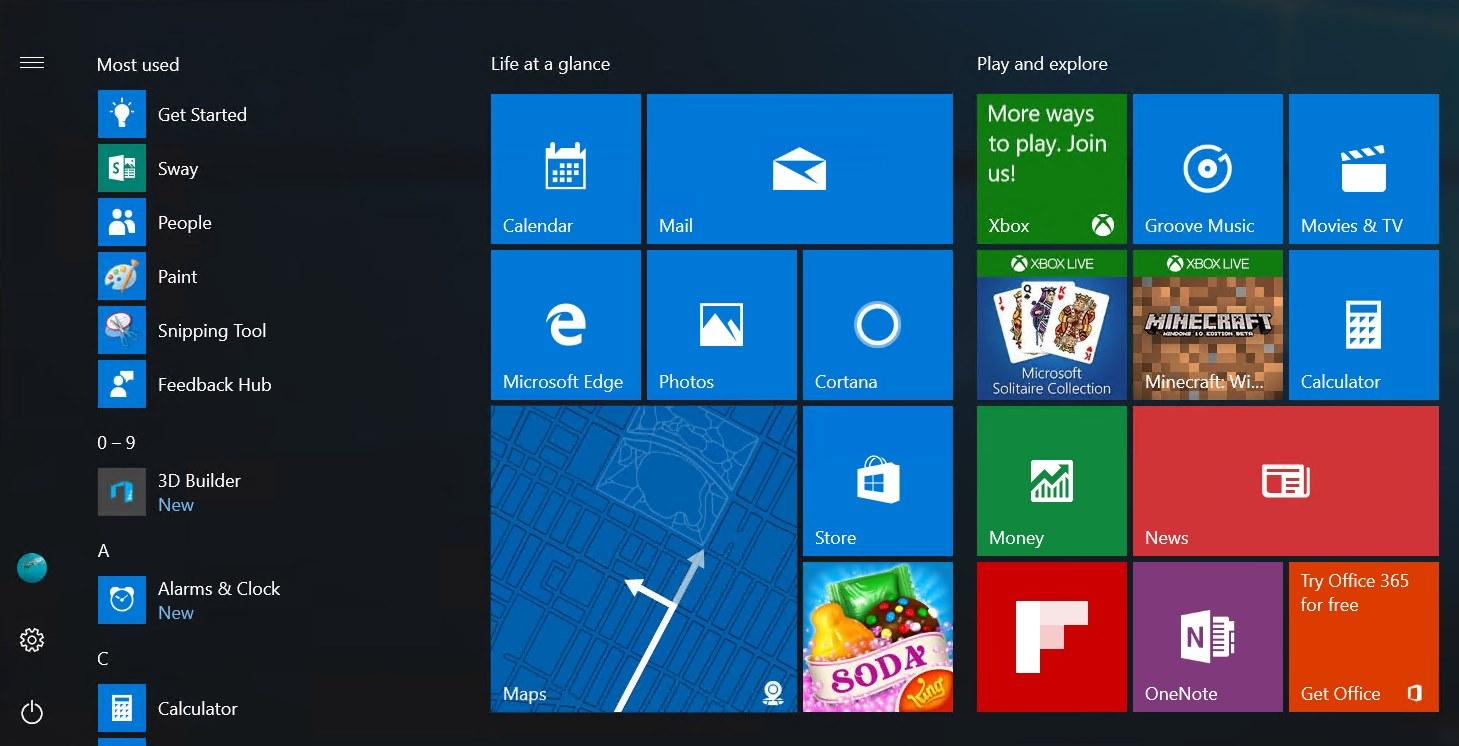 Windows 10 anniversary update start menu screens bgr - Get updates for windows office and more ...