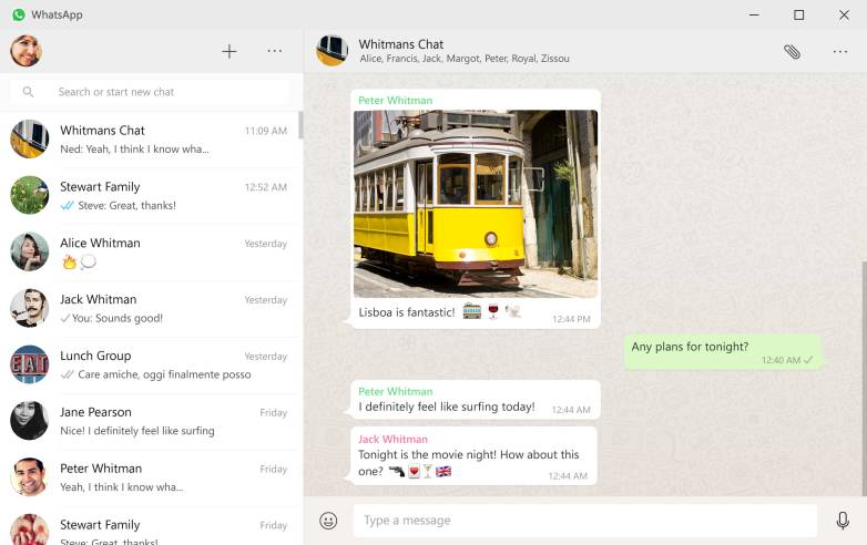 WhatsApp Windows Mac App