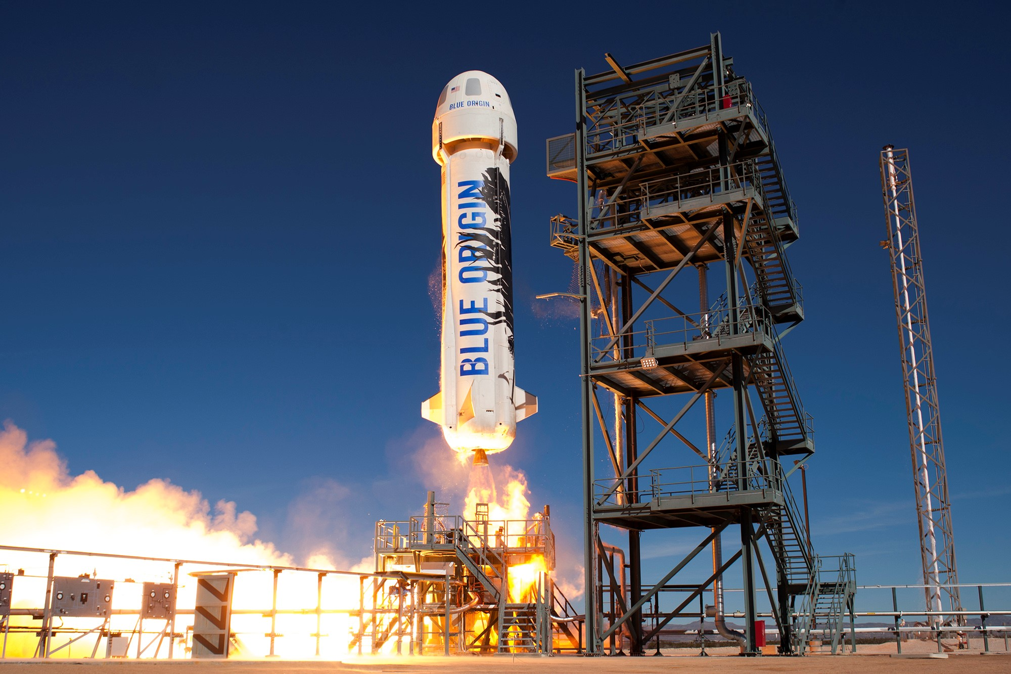 Watch Jeff Bezos's Blue Origin successfully launch its New Shepard rocket and totally stick the landing