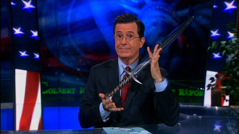 Stephen Colbert Lord of the Rings