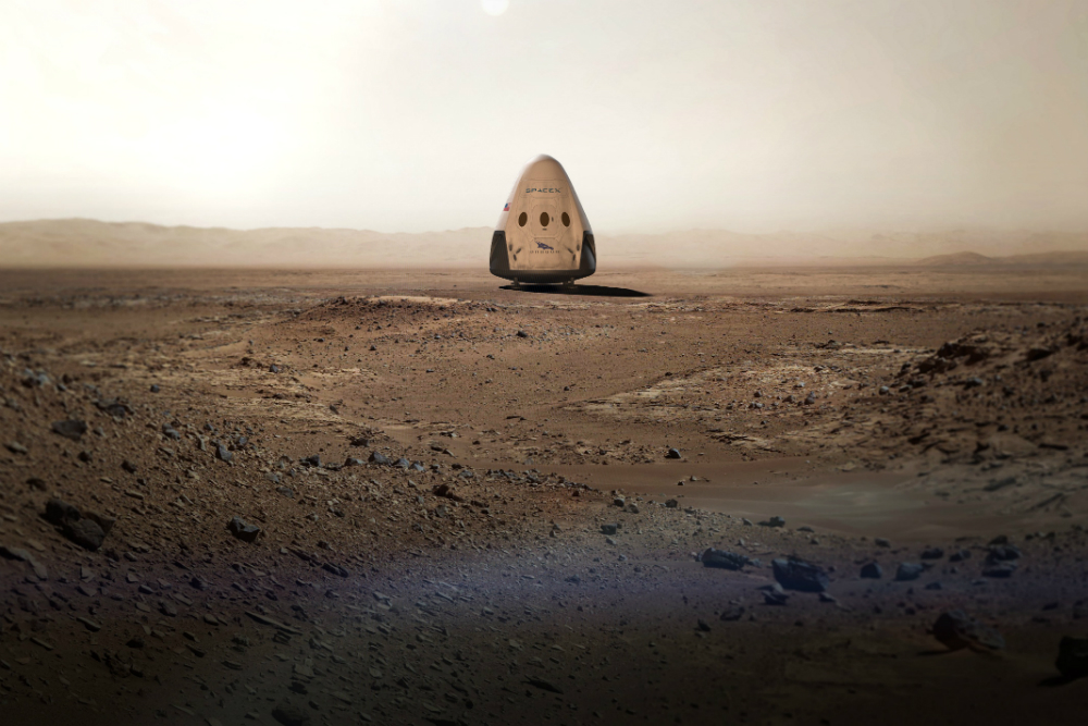 SpaceX Dragon 2 Mars