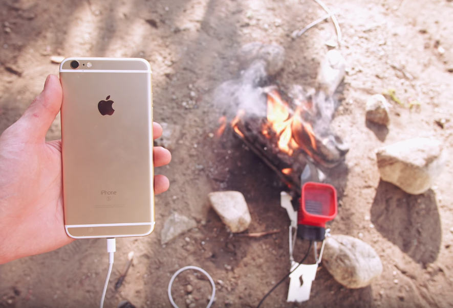 You can recharge your iphone with fire bgr - Devices burn energy even turned off ...
