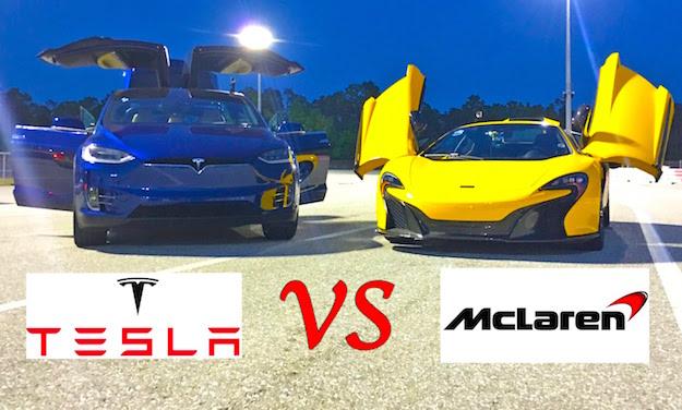 Tesla Model X Vs McLaren 650S