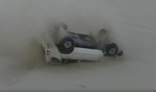 Trucks Sand Dune Crash Video