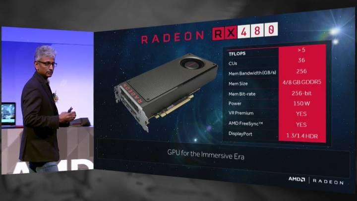 AMD Radeon RX 480 Graphics Card