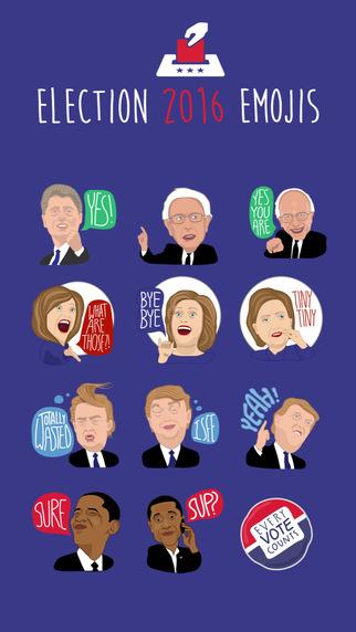 Election 2016 Emojis