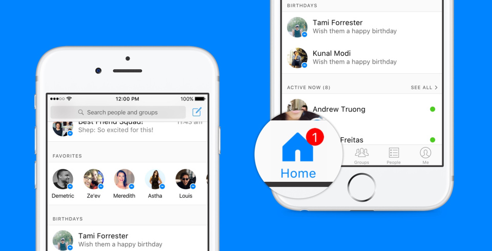 Facebook Messenger Update Home Screen