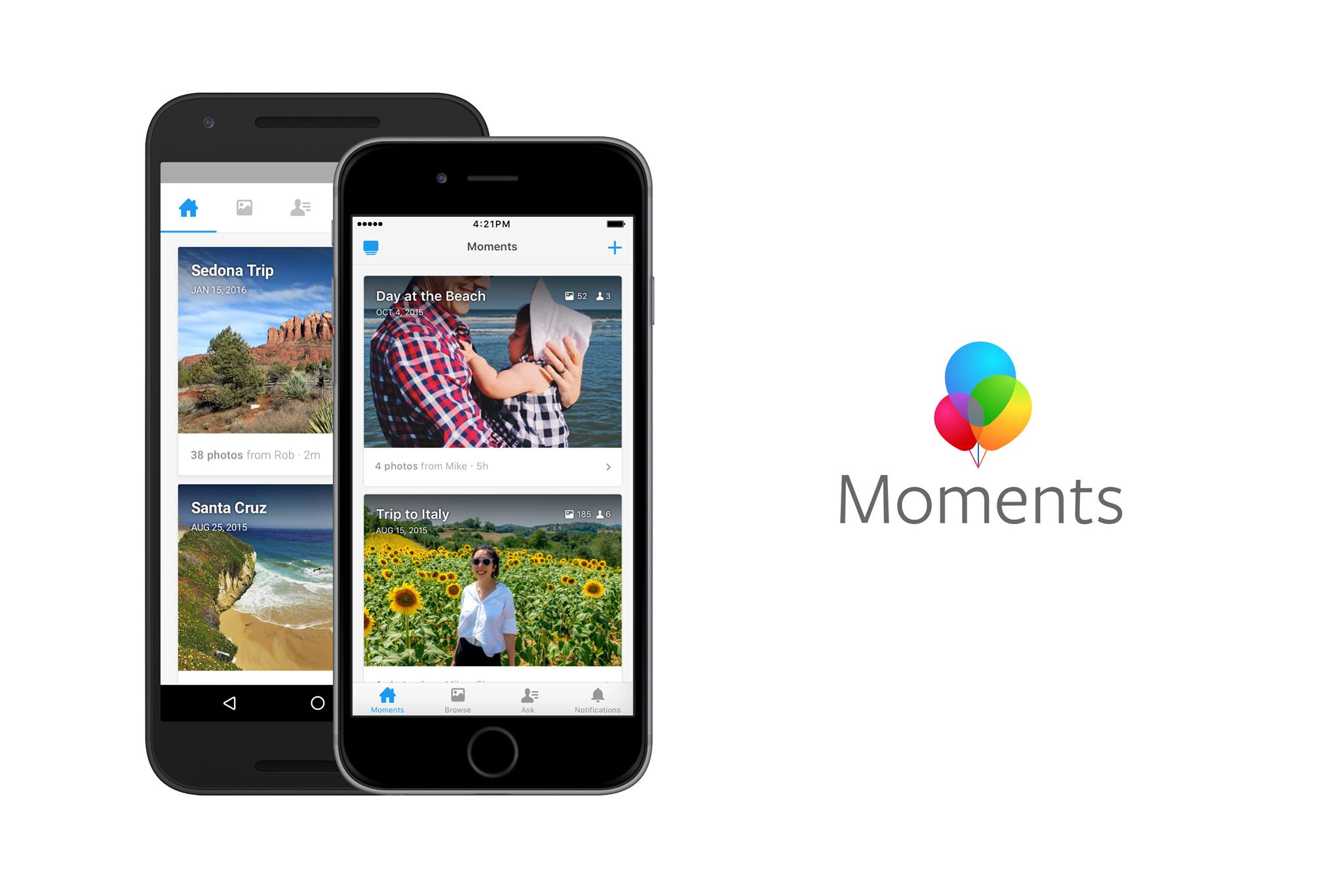 Facebook Synced Photos Moments