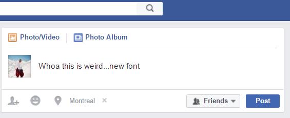 Facebook Font Change