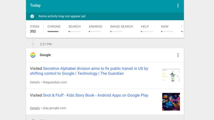 Google My Activity Tracking