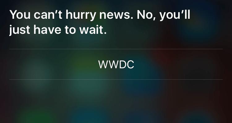 WWDC Predictions Siri