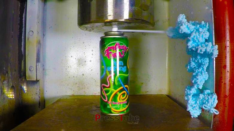 Hydraulic Press Silly String