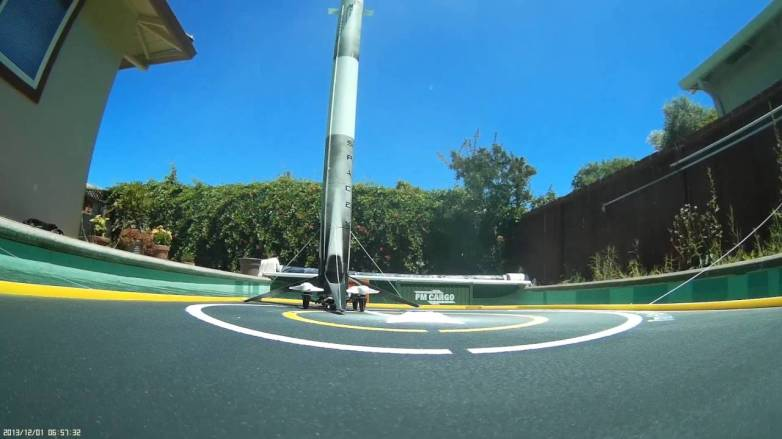 SpaceX Drone Rocket