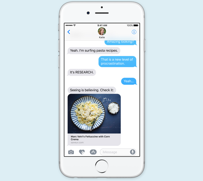 iOS 10 Messages Update WWDC 2016