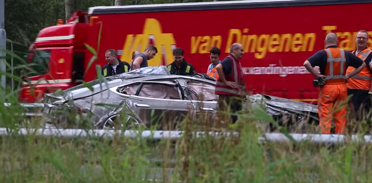 Tesla Model S Rollover Accident