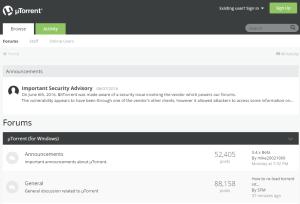 uTorrent Security Breach