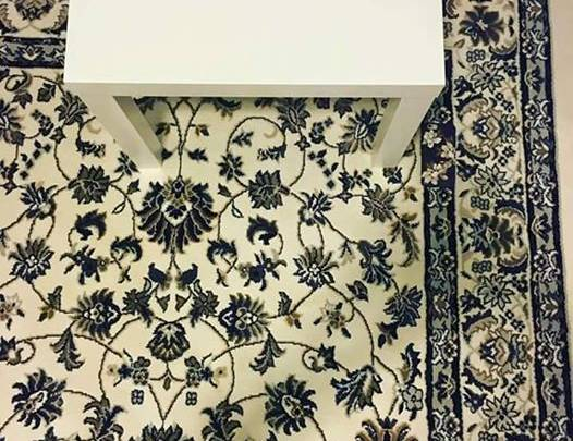 iPhone Carpet Optical Illusion