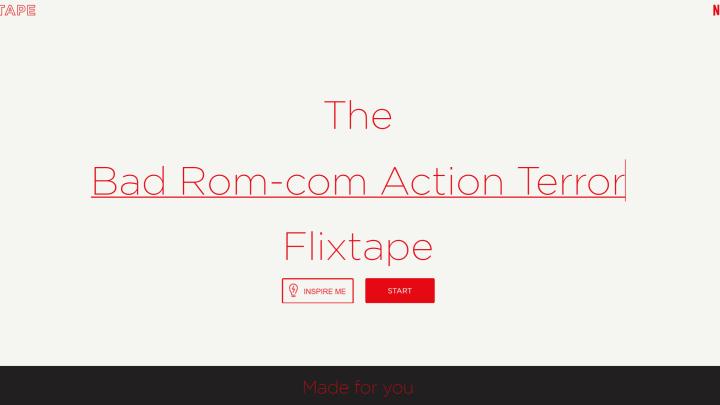 Netflix Playlists: Flixtapes