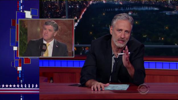 Jon Stewart Late Show Donald Trump