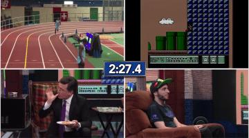 Colbert Super Mario Speedrun Hot Pocket