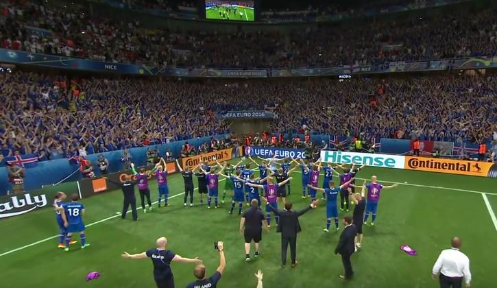 Euro 2016 Iceland Viking Clap
