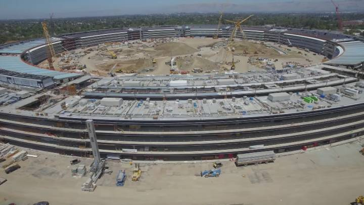 Apple Campus 2 Construction Drone Video