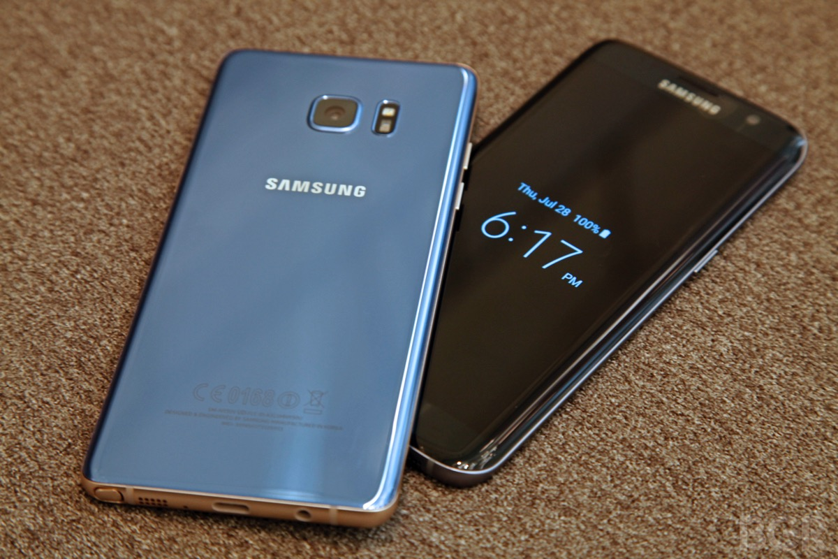 Galaxy Note 7 vs. Note 5 vs. S7 MicroSD