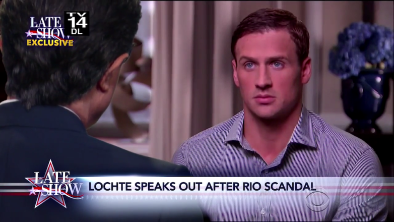 Stephen Colbert Ryan Lochte Interview
