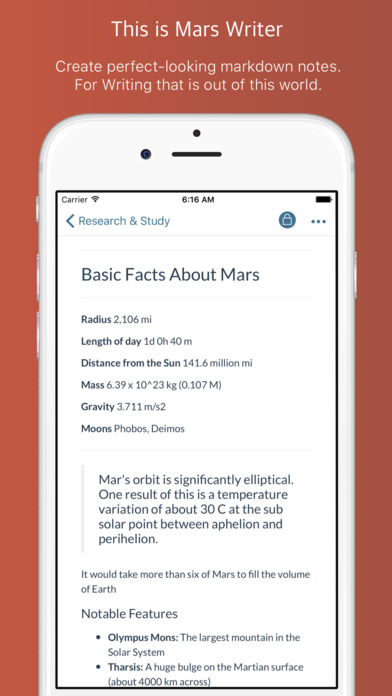 Mars Writer