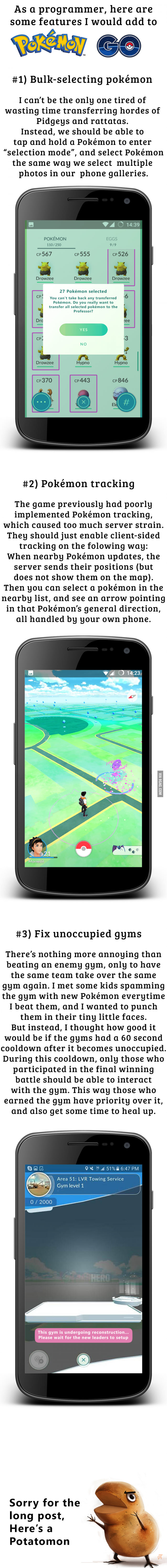 Pokemon Go Features Fixes