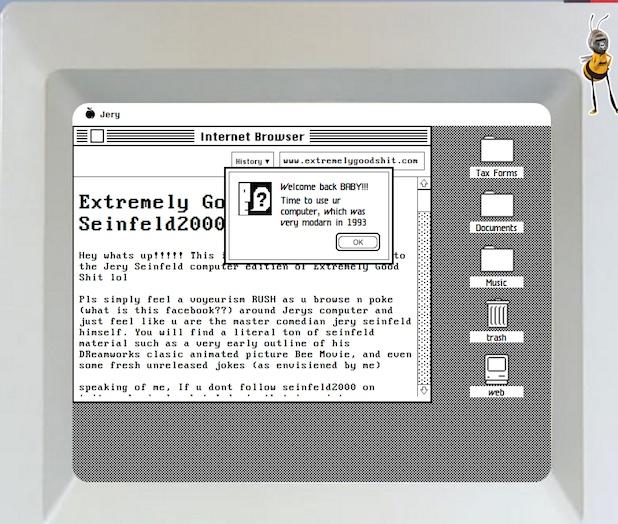 seinfeld homescreen mac