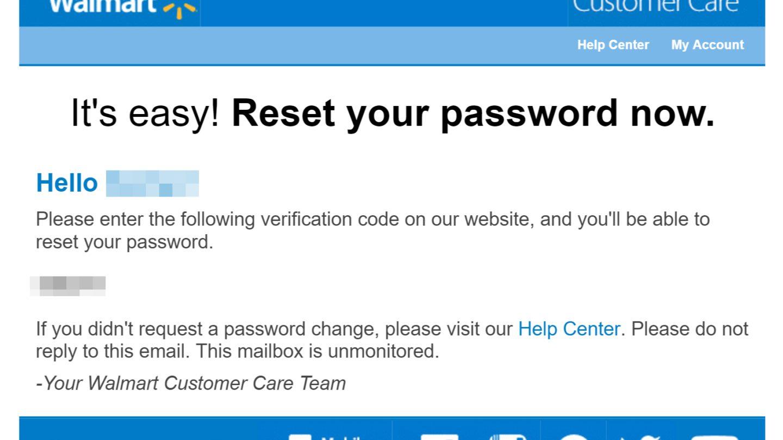 Walmart email hack