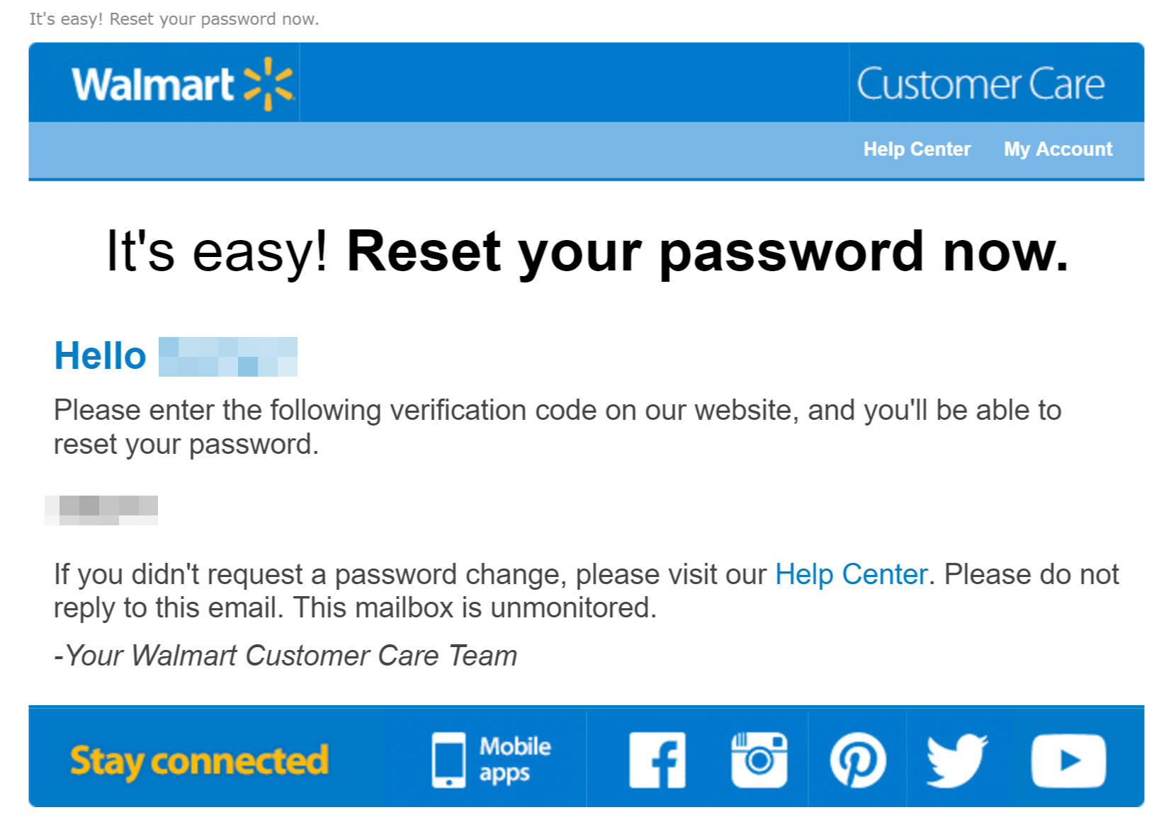 Walmart Phishing Attack